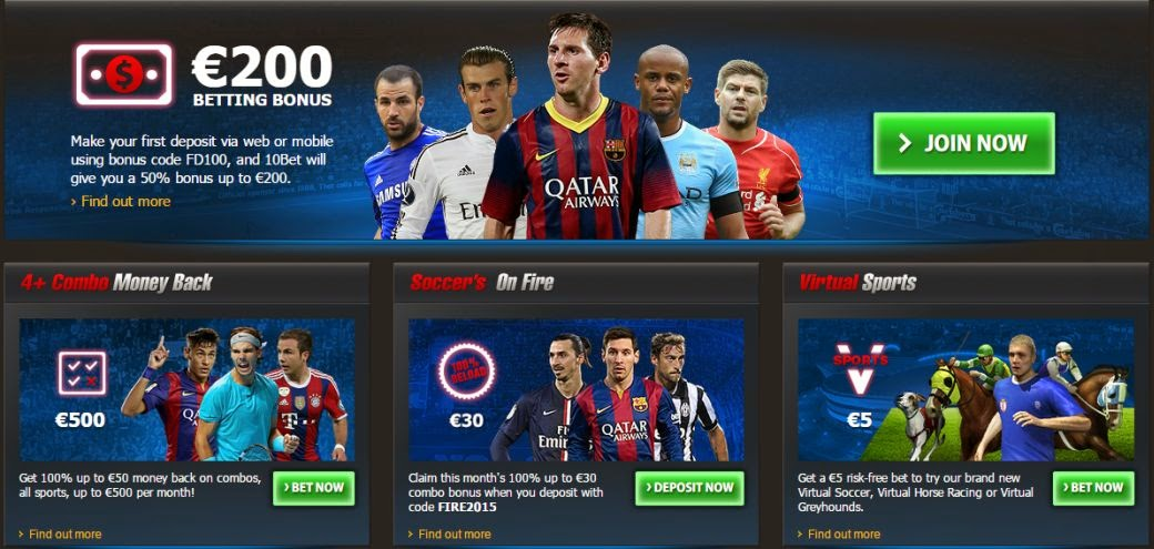 which are the promotions at the site of 10bet