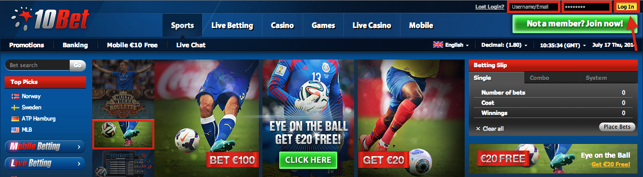 why try your luck with 10bet site options