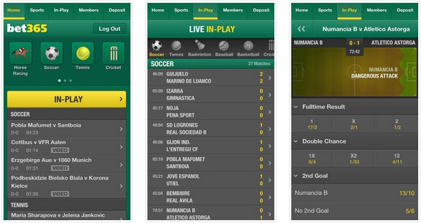 is there a bet365 mobile app for an iPhone device