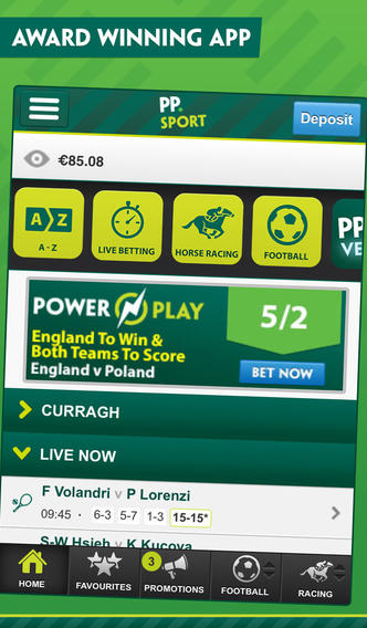 how to enter the paddy power site via mobile app