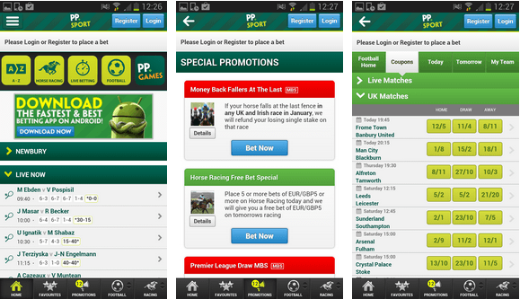 find the paddy power app for an android phone