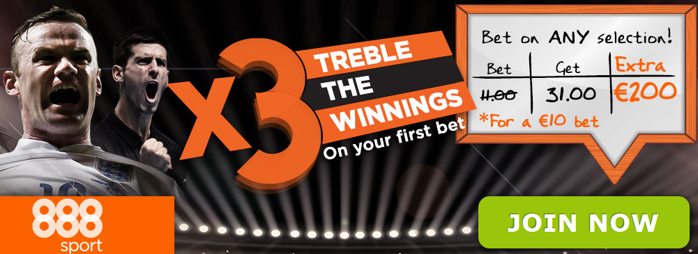does 888sport treble the odds offer
