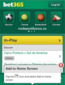 Bet365 Mobile Screen