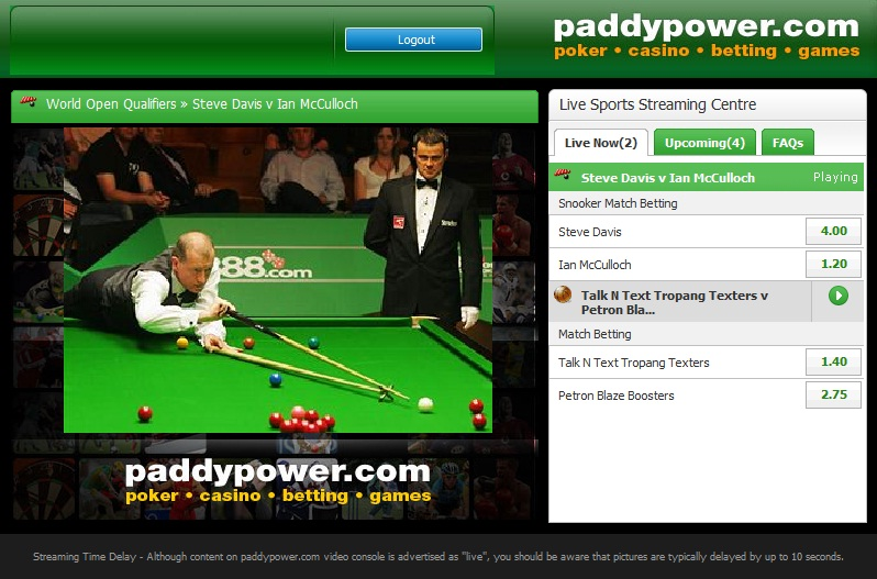 can you watch live events with paddy power