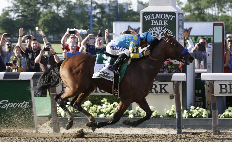 Where can you read about the belmont stakes horse race?