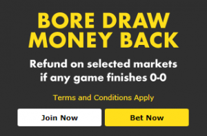 What is the bet365 Bore Draw Money Back Offer?
