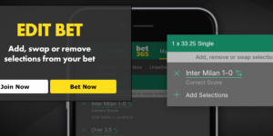 what does the bet365 edit bet actually mean