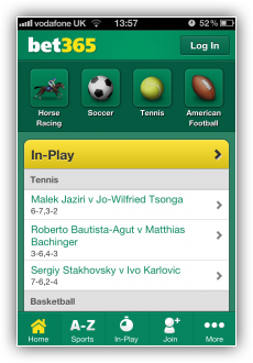 what features has the bet365 app for iphone