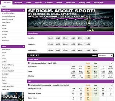 does the betdaq website offer in-play betting