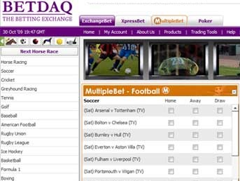 find tools and features at betdaq to make a multibet