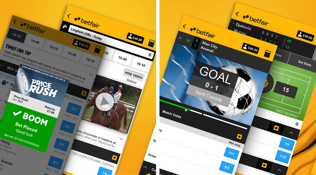 does betfair offer in-play sports betting