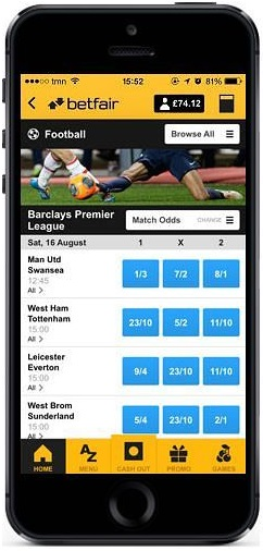 is there a betfair app to bet on the go