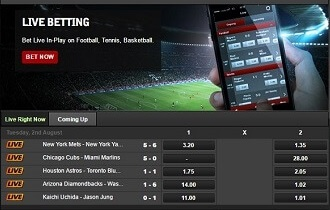 is there live streaming or live betting at betsafe
