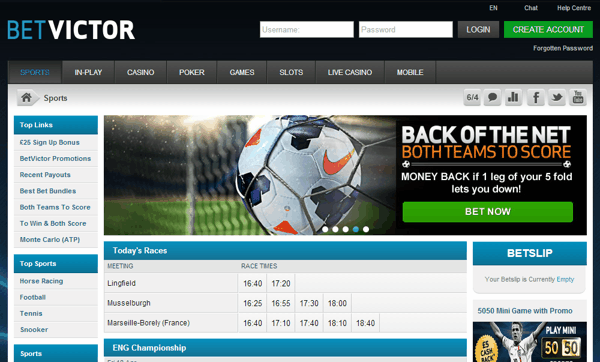 find the many markets at betvictor review