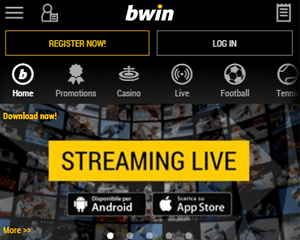 is there live streaming for in-play bets at bwin