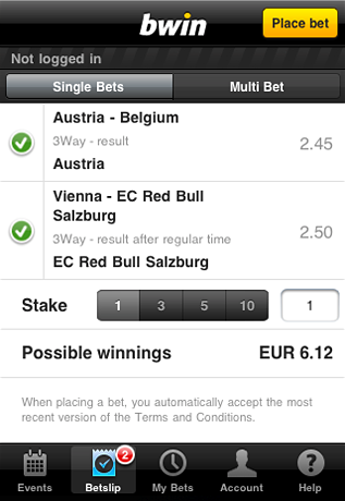 do you know what the bwin mobile app can support