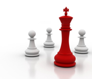 Chess figures representing strategies