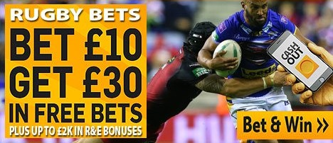 How to use a bonus to make a rugby wager?
