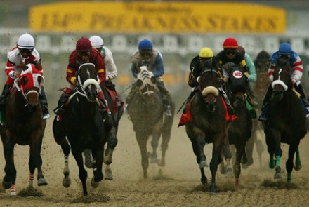 Do you at which locations has the Preakness Stakes taken place?