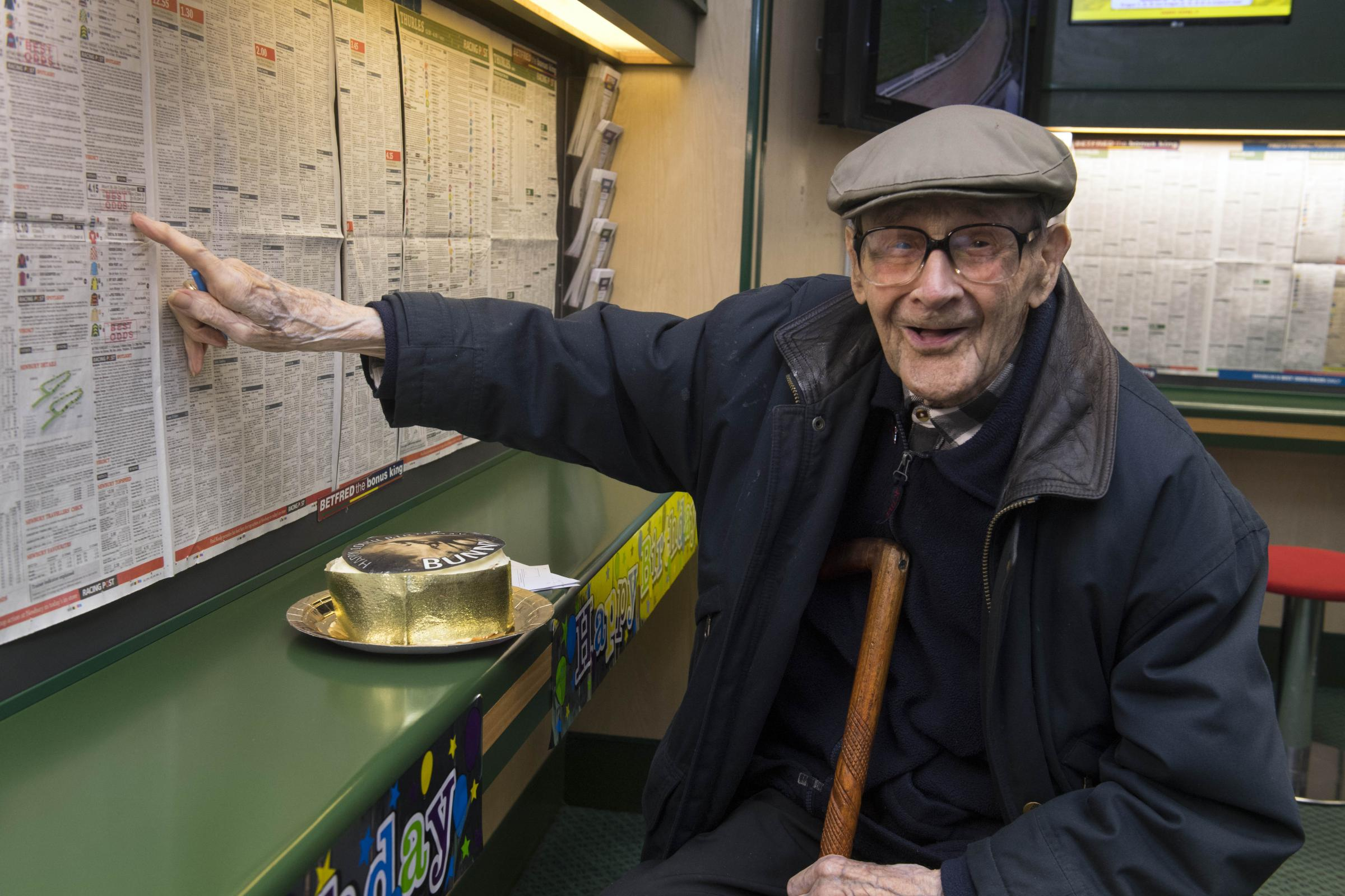 Centenarian Bettor States that Betting Keeps Him Bright