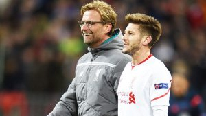Why did Adam Lallana apologise to Jurgen Klopp?