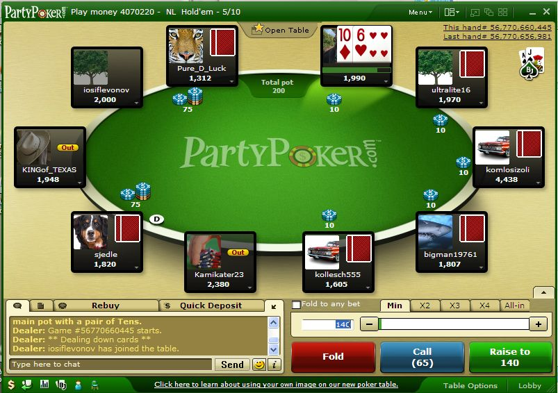 how to play texas holdem party poker after the flop