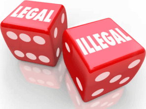how do the gambling laws determnmine legal and illegal betting