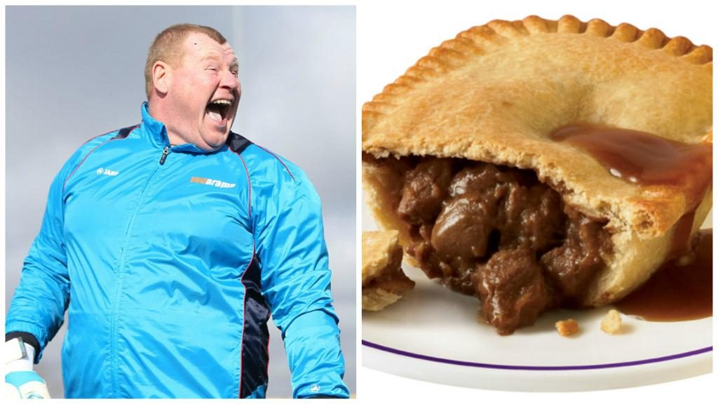Why did Wayne Shaw eat pie during match vs Arsenal?