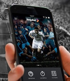 How can you download TonyBet's mobile application?