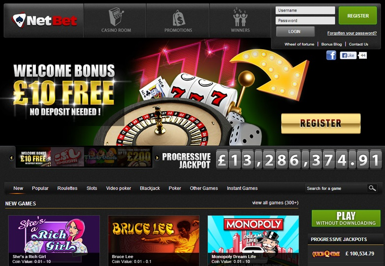 would you play at the netbet casino site