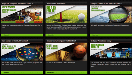 check the promotions at the netbet tools and features