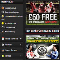 what are the options at the netbet betting market