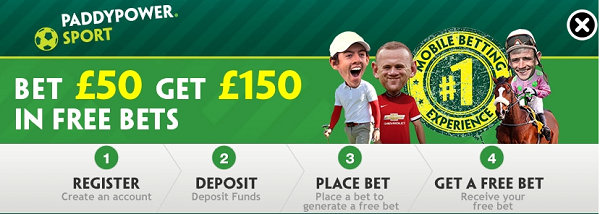 can you place free bets at the site of paddy power