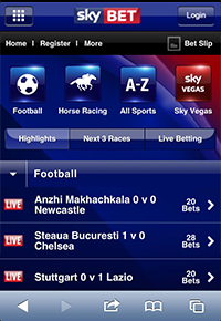 find a mobile device suitable for sky bet
