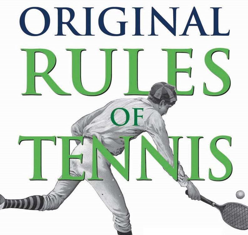 When was the first tennis rule book written?