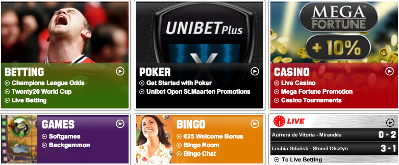 what types of unibet online bonuses are there