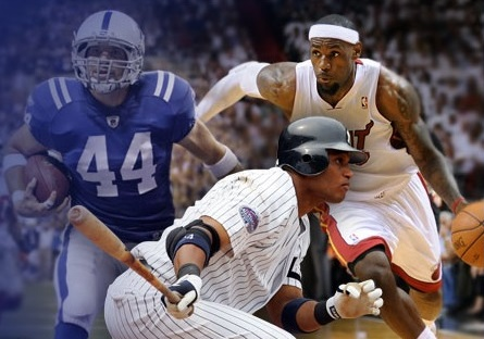 which are the top three sports on the us market