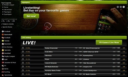 How to use the Comeon live betting features?