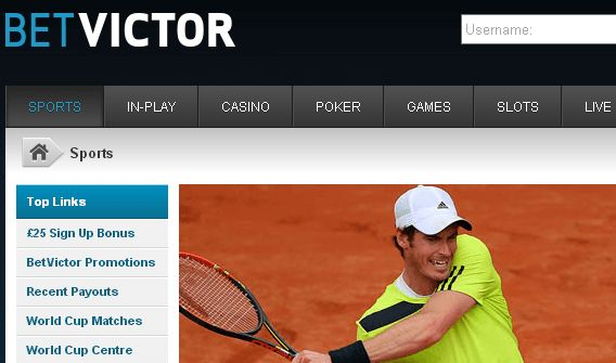 BetVictor is another website for tennis punters!